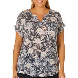 Dept 222 Plus Paisley Floral Print Top