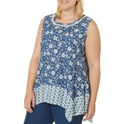 Dept 222 Plus Floral Mix Print Sleeveless Top