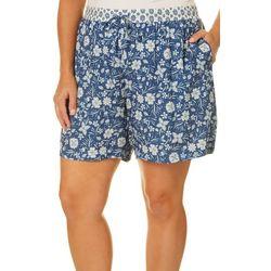 Dept 222 Plus Floral Mix Print Shorts