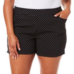 Juniper + Lime Plus Polka Dot Ruffle Pocket Pull On Shorts