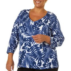 Hearts of Palm Plus Essentials Palm Print Top
