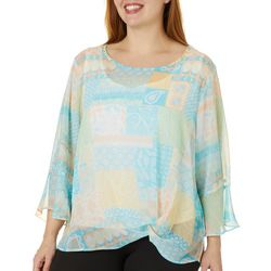 Hearts of Palm Plus Lighten The Mood Patchwork Top