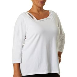 Plus Lighten The Mood Asymmetrical Neck Top
