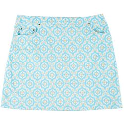 Hearts of Palm Plus Lighten The Mood Tile Print Skort