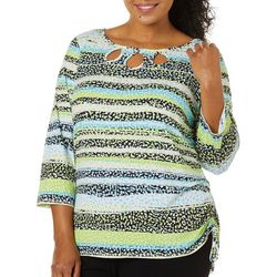 Plus In The Limelight Triple Keyhole Top