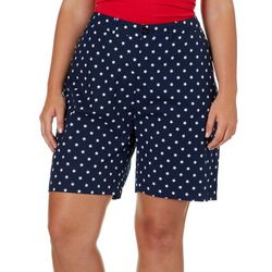 Caribbean Joe Plus Star Print Shorts