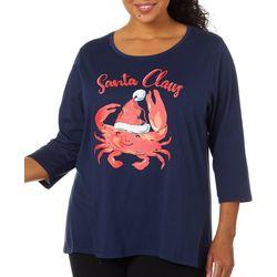 Caribbean Joe Plus Holiday Crab Santa Top