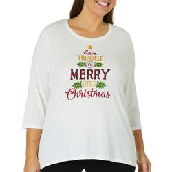 Caribbean Joe Plus Have Yourself Merry Little Christmas Top