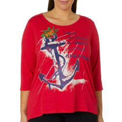 Caribbean Joe Plus Have Yourself Sandy Little Christmas Top