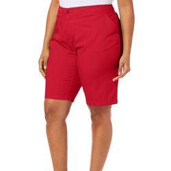 Caribbean Joe Plus Solid Bermuda Shorts