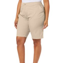 Caribbean Joe Plus Solid Bermuda Shorts