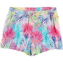 Hailey Lyn Plus Rainbow Palms Shorts