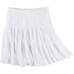 Hailey Lyn Plus Solid Three Tiered Skirt