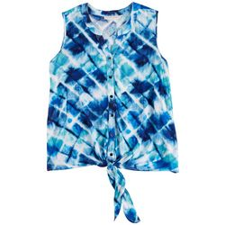 Hailey Lyn Tye-Dye Print Sleeveless Top