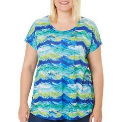 SunBay Plus Painted Waves Dolman Top