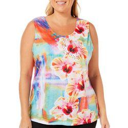 SunBay Plus Embellished Hibiscus Tank Top