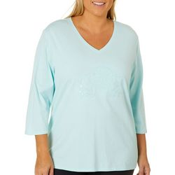 SunBay Plus Embroidered Fish Sequin Top