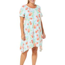 SunBay Plus Flamingo Floral Print Dress