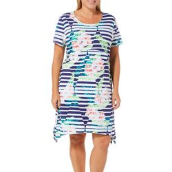 SunBay Plus Gradient Floral Print Dress