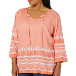 SunBay Plus Tie Dye Gauze Top