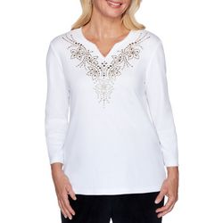 Alfred Dunner Plus Bright Idea Embellished Top