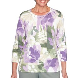 Alfred Dunner Plus Loire Valley Patch Leaf Top