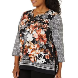 Alfred Dunner Plus Street Smart Collection Floral Top