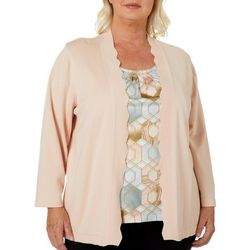 Alfred Dunner Plus Boardroom Stained Glass Duet Top