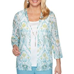Alfred Dunner Plus Chesapeake Bay Necklace Top