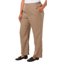 Alfred Dunner Plus Boardroom Solid Pull On Pants