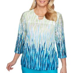 Alfred Dunner Plus Easy Street Ombre Print Top