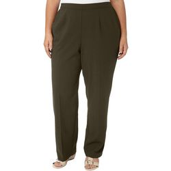 Alfred Dunner Plus Cedar Canyon Solid Pull On Pants