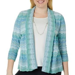 Alfred Dunner Plus Simply Irresistible Necklace & Duet Top
