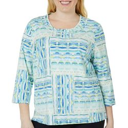 Alfred Dunner Plus Simply Irresistible Geometric Print Top