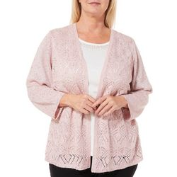 Alfred Dunner Plus Home For The Holidays Duet Cardigan