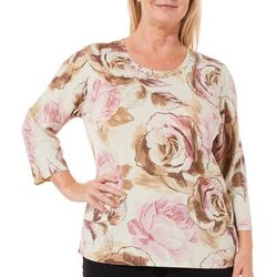 Alfred Dunner Plus Home For The Holidays Floral Top