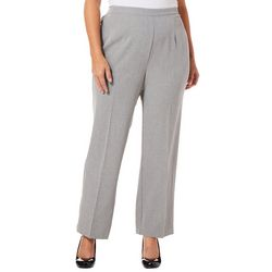 Alfred Dunner Plus Solid Smart Investment Prop Pants