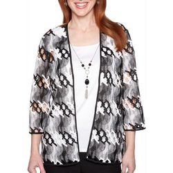 Alfred Dunner Plus Native New Yorker Abstract Duet Top