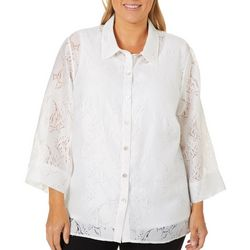 Alfred Dunner Plus Catalina Island Angel Fish Duet Top