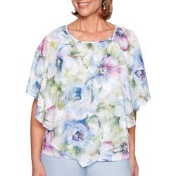Alfred Dunner Plus Southampton Watercolor Floral Top