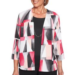 Alfred Dunner Plus Stained Glass Duet Top