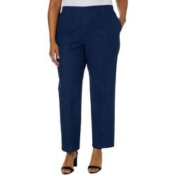 Alfred Dunner Plus Greenwich Hills Denim Pull On Pants