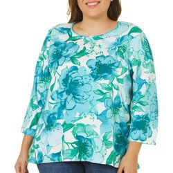 Alfred Dunner Plus Watercolor Floral Top