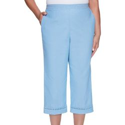 Alfred Dunner Plus Garden Party Eyelet Capris