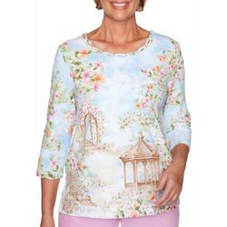 Alfred Dunner Plus Garden Party Scenic Top