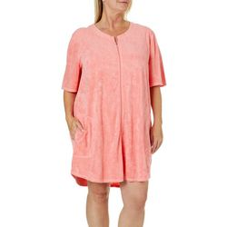 Paradise Bay Plus Pineapple French Terry Zip Cover-Up