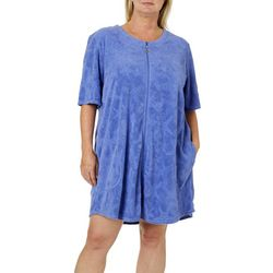 Paradise Bay Plus Starfish French Terry Zip Cover-Up