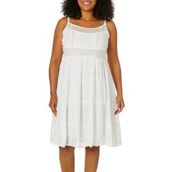 Studio West Plus Crochet Short Swim Dress Cover-Up