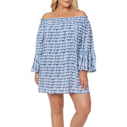 Jessica Simpson Womens Bondi Off The Shoulder Cover-Up