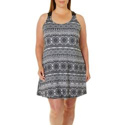 Pacific Beach Plus Macrame Back Tank Dress Cover-Up